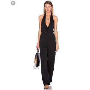 House of Harlow Coco Tie Front Jumpsuit